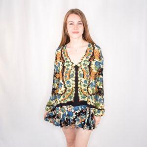 FREE PEOPLE Floral Print Boho Tunic / Dress 0470